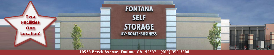Fontana Self Storage, Fontana California